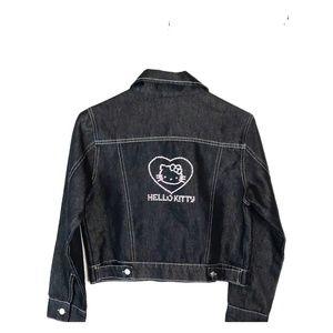 Hello Kitty black lrg girls Jean jacket